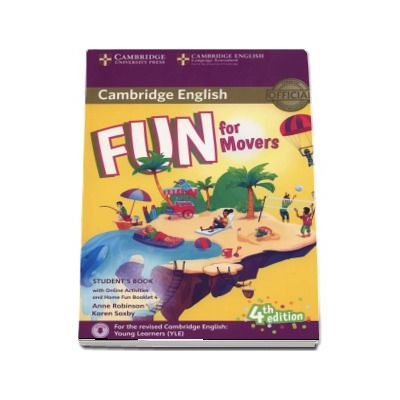 Fun for Movers Students Book with Online Activites and Home Fun Booklet 4 (4th edition)