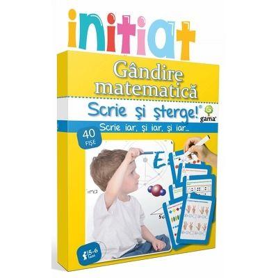 Gandire matematica - scrie si sterge (5 - 6 ani)