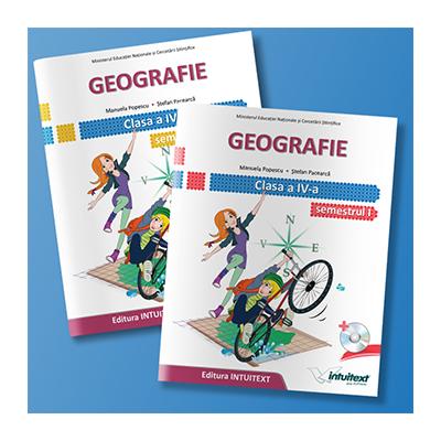 Geografie manual pentru clasa a IV-a, semestrul I si semestrul al II-lea (Contine editia digitala) - Stefan Pacearca