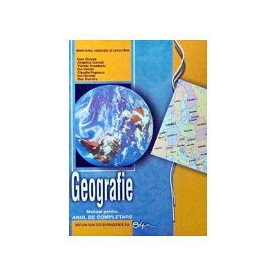 Geografie manual pentru clasa a XI-a. Anul de completare