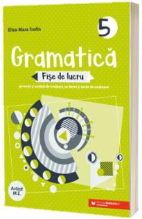 Gramatica. Fise de lucru (pe lectii si unitati de invatare cu itemi si teste de evaluare). Clasa a 5-a