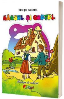 Hansel si Gretel, poveste de colorat
