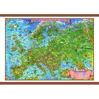 Harta Europei pentru copii 1400x1000mm