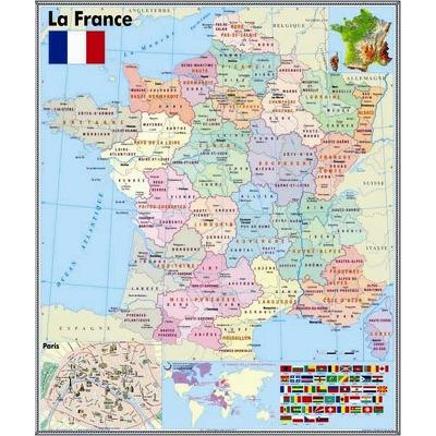 Harta murala La France