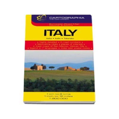 Harta rutiera Italia (San Marino, Vatican)