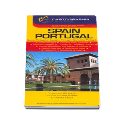 Harta rutiera Spania si Portugalia
