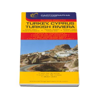Harta rutiera Turcia (Cipru si Riviera Turciei)