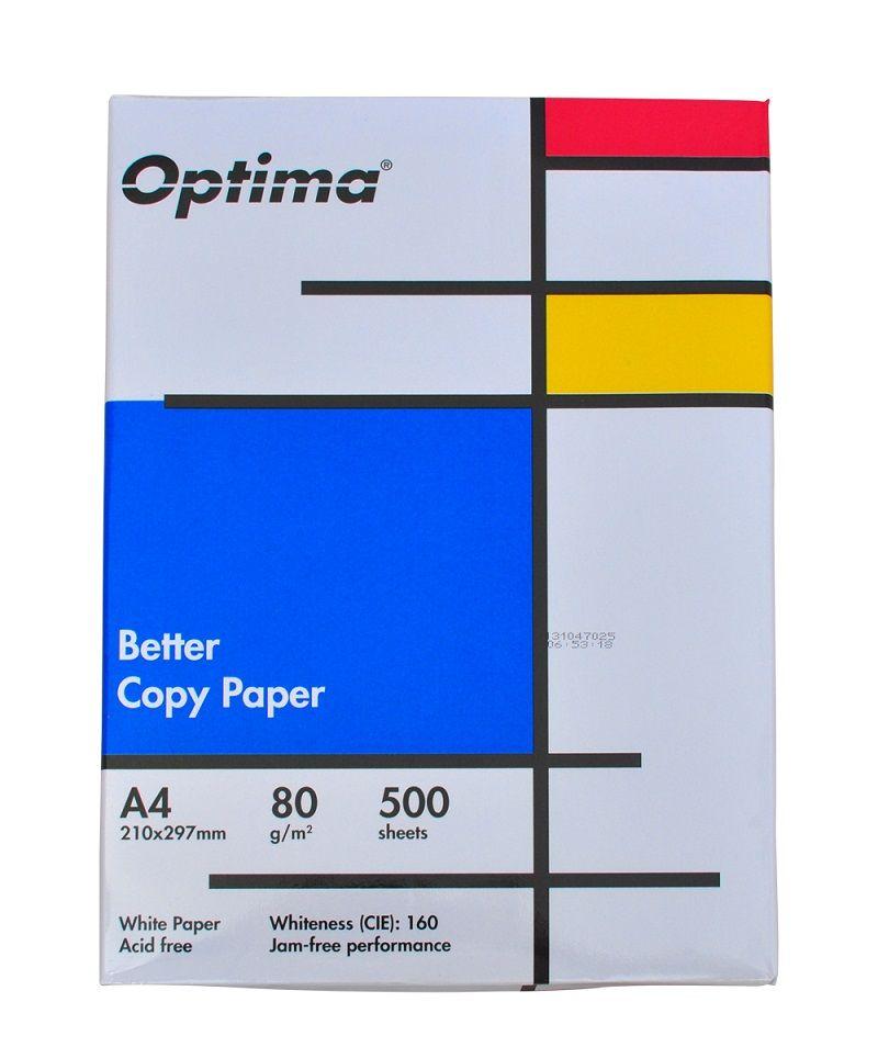 Hartie alba pentru copiator A4, 80g/mp, 500coli/top, Optima