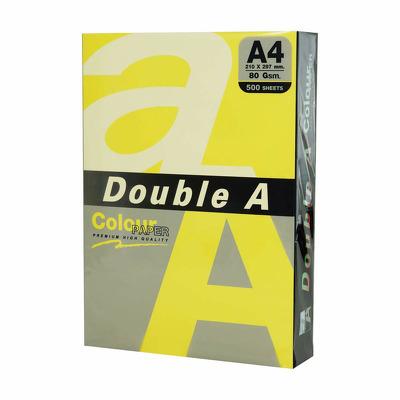 Hartie color pentru copiator A4, 80g/mp, 25coli/top, Double A - lemon intens