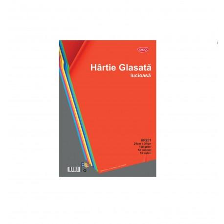 Hartie glasata lucioasa 12 file/set, Daco