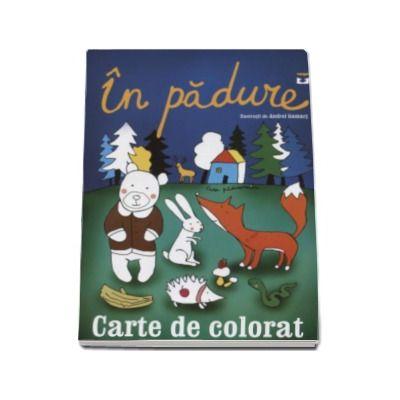 In padure - Carte de colorat
