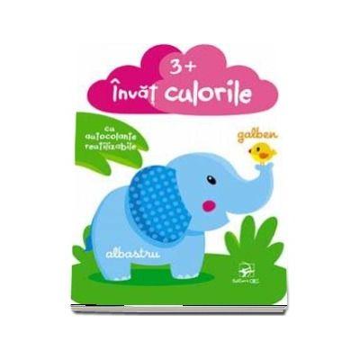 Invat culorile, cu autocolante reutilizabile (varsta +3 ani)