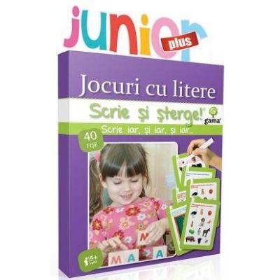 Jocuri cu litere Junior Plus - Scrie si sterge