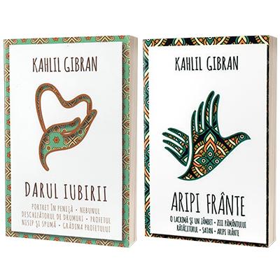 Serie de autor Khalil Gibran, compusa din 2 carti - Aripi frante si Darul iubirii