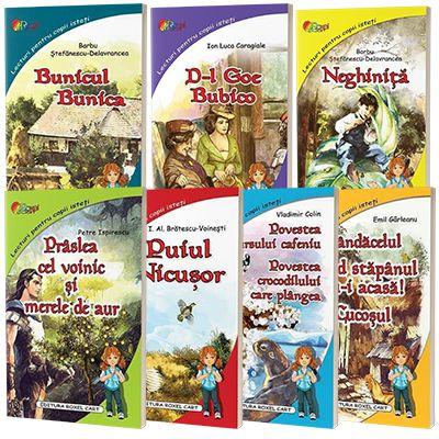 Lecturi pentru copii isteti. Pachet format din 7 carti