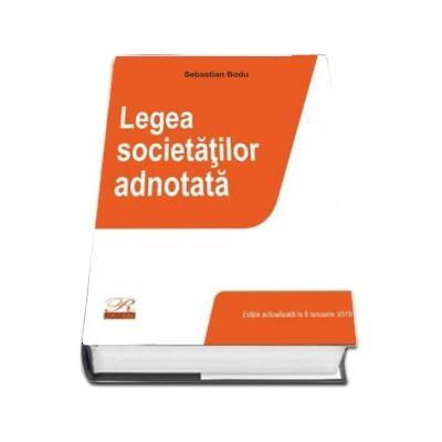 Legea societatilor adnotata. Editia 2019