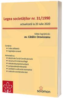 Legea societatilor nr. 31/1990 (actualizata la 20 iulie 2020)