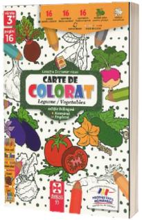 Legume/Vegetables, carte de colorat