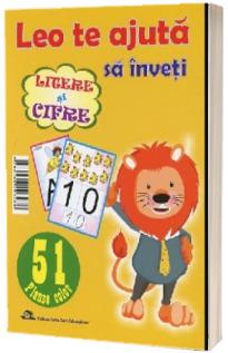 Leo te ajuta sa inveti: Litere si Cifre. 51 planse color pentru gradinita