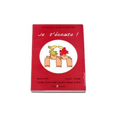 Limba franceza. Manual pentru clasa a IX-a limba a 2 de studiu - Cavallioti