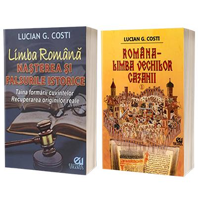 Serie de autor Lucian G Costi. Limba Romana - Nasterea si falsurile istorice si Romana, limba vechilor cazanii, volumul I (set de 2 carti)