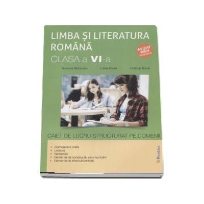 Limba si literatura romana, caiet de lucru structurat pe domenii pentru clasa a VI-a