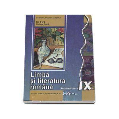 Limba si literatura romana, manual pentru clasa a IX-a