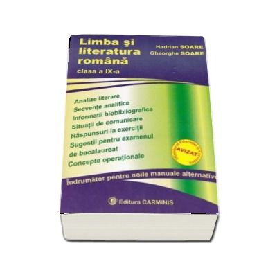 Limba si literatura romana pentru clasa a IX-a