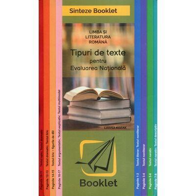 Limba si literatura romana, tipuri de texte pentru evaluarea nationala. Sinteze