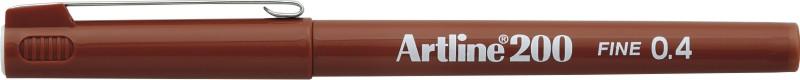 Liner Artline 200, varf fetru 0.4mm - maro