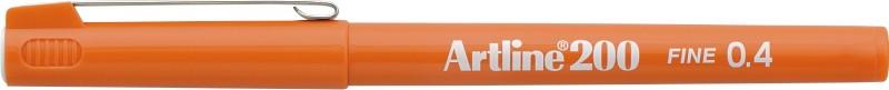 Liner Artline 200, varf fetru 0.4mm - portocaliu