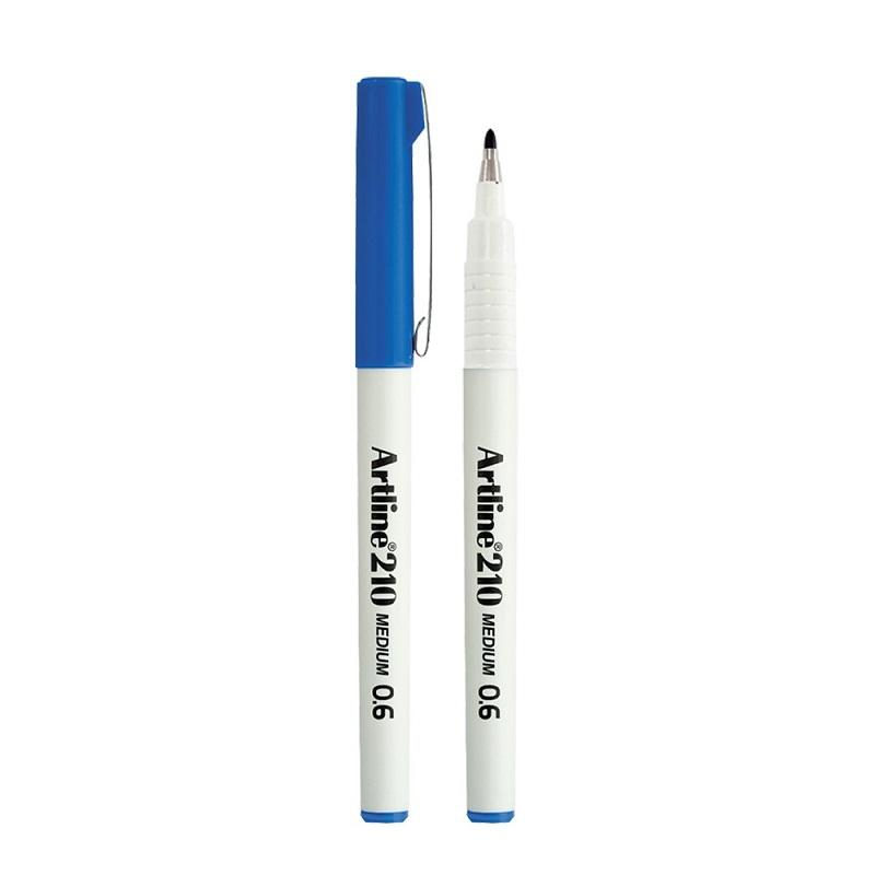 Liner Artline 210, varf fetru 0.6mm - albastru