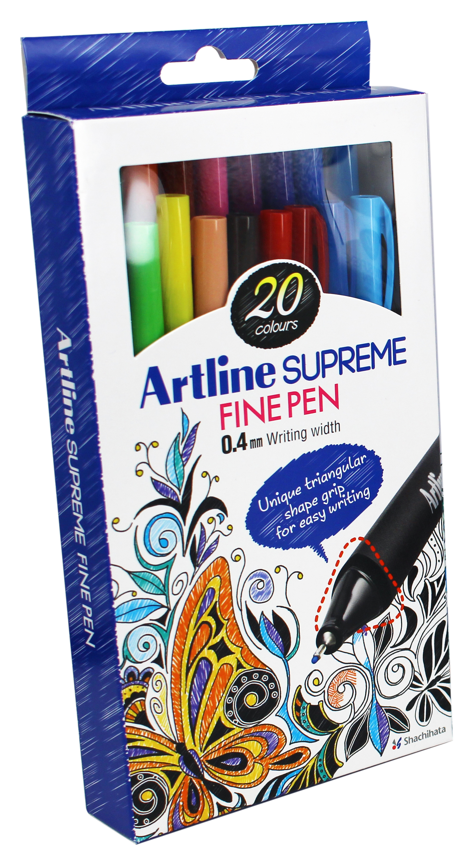 Liner ARTLINE Supreme, varf fetru 0.4mm, 10 culori/set