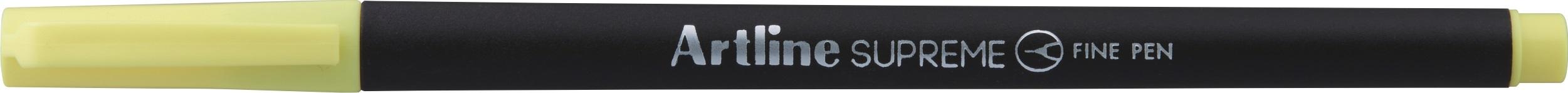 Liner Artline Supreme, varf fetru 0.4mm - galben deschis