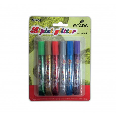 Lipici glitter set 6, Ecada
