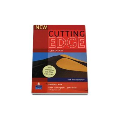New Cutting Edge Elementary Students Book with mini-dictionary and CD-Rom pack - Sarah Cunningham