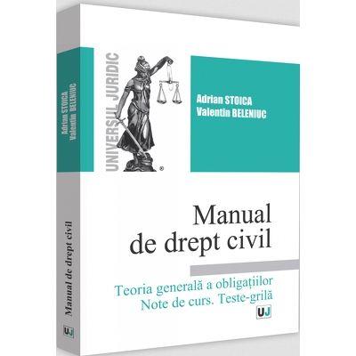 Manual de drept civil. Teoria generala a obligatiilor. Note de curs. Teste-Grila