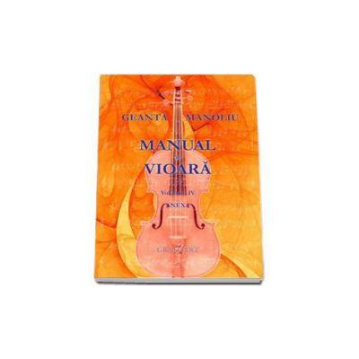 Manual de vioara, Anexa Volumul IV