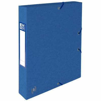 Mapa A4, carton MultiStrat 390g/mp, cu elastic, 40mm latime,Top File - albastru
