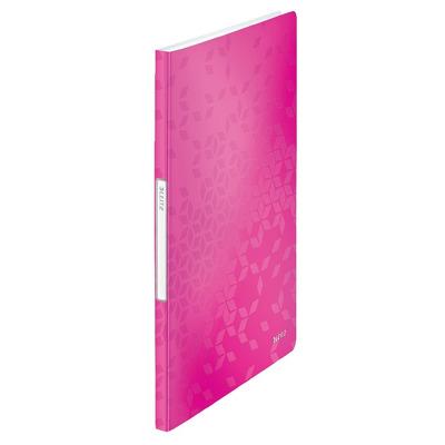 Mapa de prezentare Leitz Wow, PP, 20 de folii - roz metalizat
