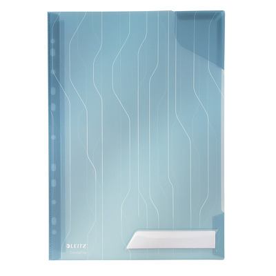 Mapa Leitz Combi File, cu eticheta, 5 buc/set - transparent albastru