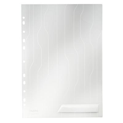 Mapa Leitz Combi File, cu eticheta, 5 buc/set - transparent