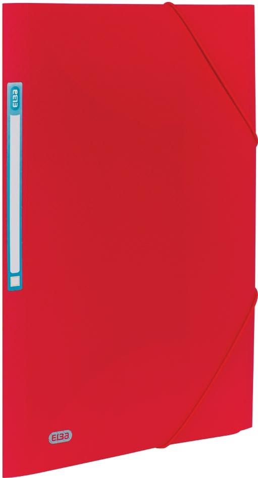 Mapa plastic cu elastic, A4, PP-0.3mm, ELBA Urban - rosu