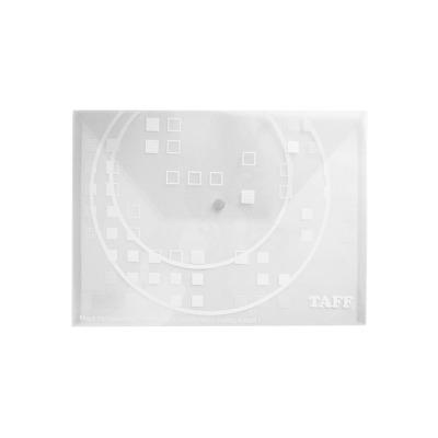 Mapa plastic Taff B4, plic cu buton, alb, Arhi Design