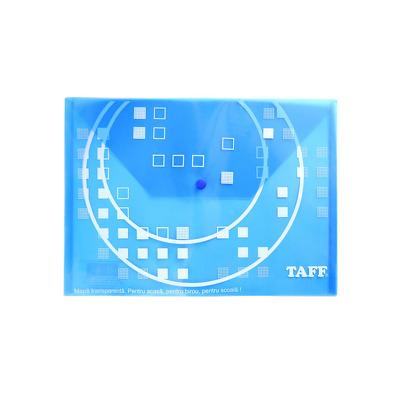 Mapa plastic Taff B4, plic cu buton, albastru, Arhi Design