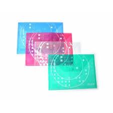 Mapa plastic Taff B4, plic cu buton, rosu, Arhi Design