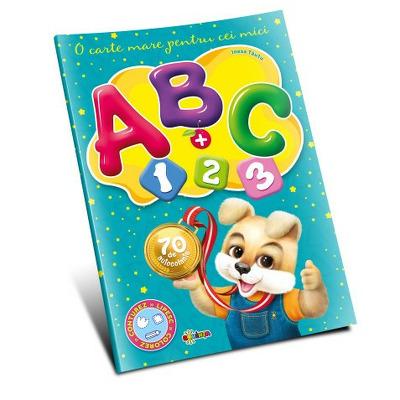 Marea carte de colorat. ABC + 1,2,3. O carte mare pentru cei mici