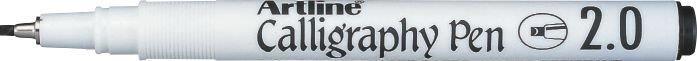 Marker Artline Calligraphy, varf tesit din fetru 2.0mm - negru
