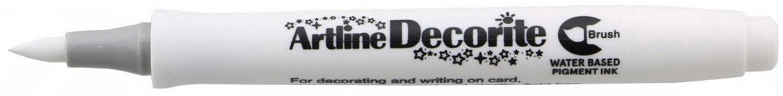 Marker Artline Decorite, varf flexibil (tip pensula) - alb