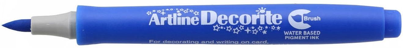Marker Artline Decorite, varf flexibil (tip pensula) - albastru